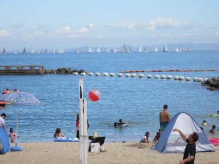 淡輪ときめきビーチ海水浴場